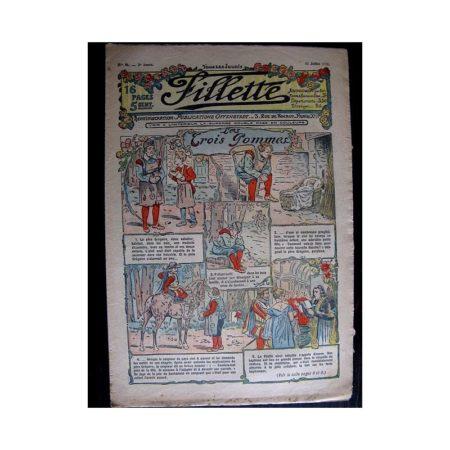 FILLETTE N°91 (13 juillet 1911) LES TROIS POMMES