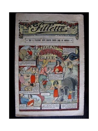 FILLETTE N°114 (21 décembre 1911) LA LEGENDE DE LA COULEUVRE BLEUE