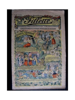 FILLETTE (SPE) 1912 N°118 LE VIEUX MENDIANT (Parure de fourrure – Etole)