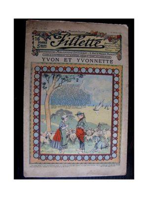 FILLETTE (SPE) 1912 N°120 YVON ET YVONNETTE (Poupée Fillette – Costume de Napolitaine Jupe et Corselet)