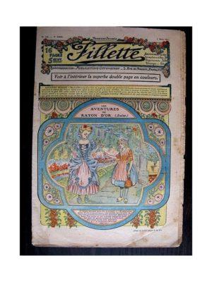 FILLETTE (SPE) 1912 N°125 LES AVENTURES DE RAYON D'OR (Poupée Fillette – Tablier brodé)