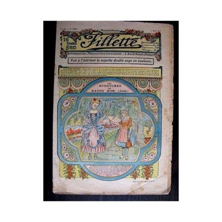 FILLETTE N°125 (7 mars 1912) LES AVENTURES DE RAYON D'OR (suite)