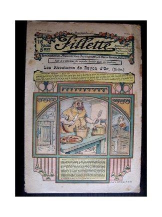 FILLETTE N°126 (14 mars 1912) LES AVENTURES DE RAYON D'OR (suite)