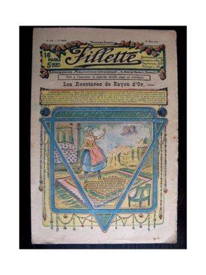 FILLETTE (SPE) 1912 N°128 LES AVENTURES DE RAYON D'OR Pouppée Fillette – Robe Mona Lisa)
