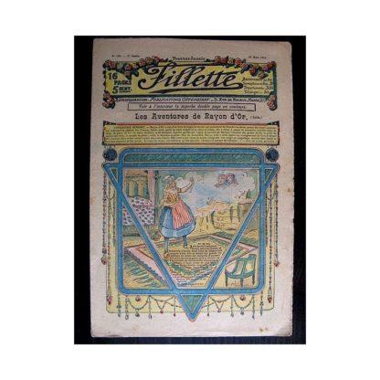 FILLETTE N°128 (28 mars 1912) LES AVENTURES DE RAYON D'OR (suite)