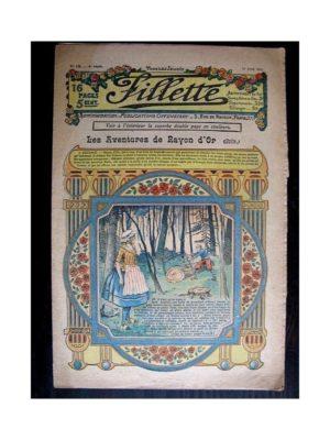 FILLETTE (SPE) 1912 N°130 LES AVENTURES DE RAYON D'OR (Poupée Fillette – Tablier Babette)