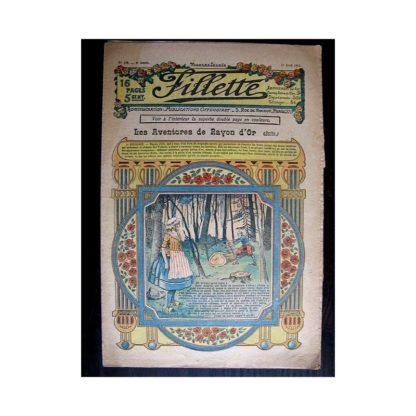 FILLETTE N°130 (11 avril 1912) LES AVENTURES DE RAYON D'OR (suite)