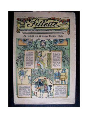 FILLETTE (SPE) 1912 N°142 AU TEMPS OU LA REINE BERTHE FILAIT (Poupée Fillette – Robe de casino – Corsage et voilage de la jupe)