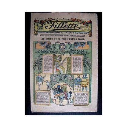 FILLETTE N°142 (4 juillet 1912) AU TEMPS OU LA REINE BERTHE FILAIT