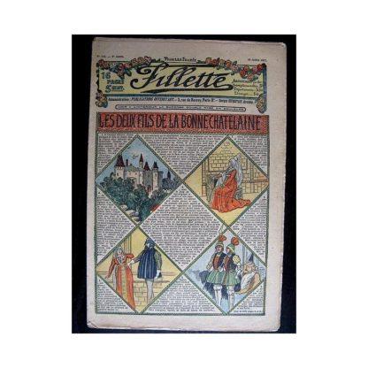 FILLETTE N°144 (18 juillet 1912) LES DEUX FILS DE LA BONNE CHATELAINE