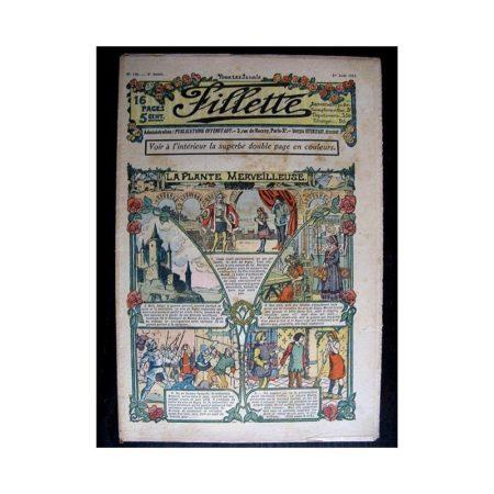 FILLETTE N°146 (1e août 1912) LA PLANTE MERVEILLEUSE