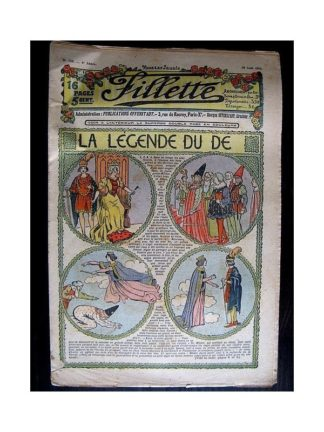 FILLETTE N°150 (29 août 1912) LA LEGENDE DU DE