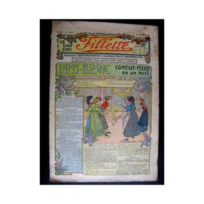 FILLETTE N°181 (29 décembre 1912) LILAS BLANC