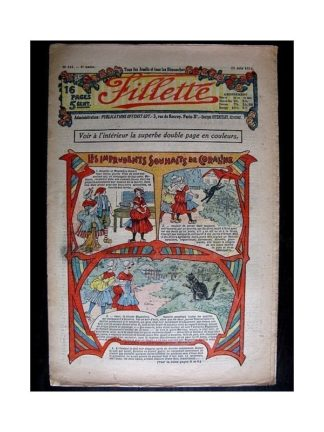 FILLETTE N°230 (19 juin 1913) L'OISEAU D'EMERAUDE