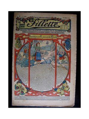 FILLETTE (SPE) 1913 N°236 L'INCOMPARABLE PARURE DE ROSETTE (Poupée Fillette – Robe Gisèle)