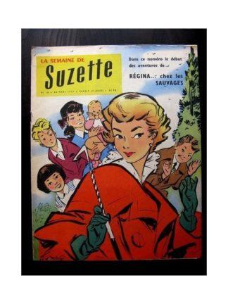 LA SEMAINE DE SUZETTE 48e année N°18 (1957) REGINA CHEZ LES SAUVAGES