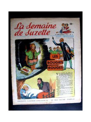 La Semaine de Suzette n°4 (27 décembre 1951) LES BOUGIES ROUGES (Françoise Bertier)