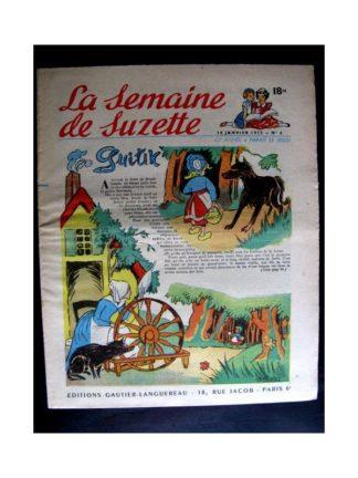 La Semaine de Suzette n°6 (10 janvier 1952) GUITIK / LE MENESTREL