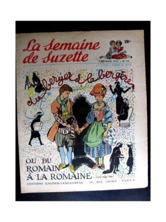 La Semaine de Suzette n°10 (7 février 1952) DU BERGER A LA BERGERE / COQUIN LE PETIT COCKER