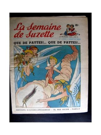 La Semaine de Suzette n°11 (14 février 1952) QUE DE PATTES QUE DE PATTES! / COQUIN LE PETIT COCKER