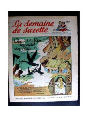 La Semaine de Suzette n°21 (24 avril 1952) LA MER DESCENDIT CHEZ BELLE / COQUIN LE PETIT COCKER