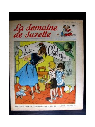 La Semaine de Suzette n°25 (22 mai 1952) LA CHATAIGNE / COQUIN LE PETIT COCKER