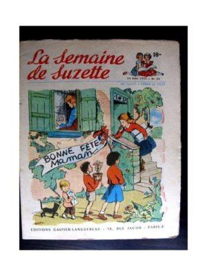 La Semaine de Suzette n°26 (29 mai 1952) BONNE FETE MAMAN / COQUIN LE PETIT COCKER
