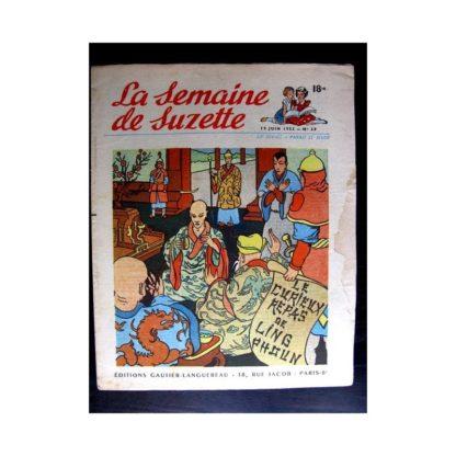 La Semaine de Suzette n°29 (19 juin 1952) LE CURIEUX REPAS DE LING PHOUN / COQUIN LE PETIT COCKER