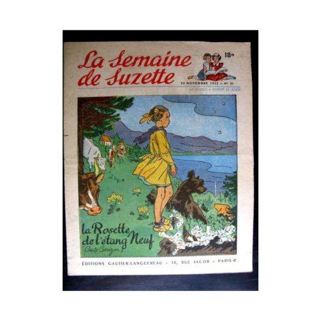La Semaine de Suzette n°51 (20 novembre1952) LA ROSETTE DE L'ETANG NEUF (Conte Corrézien)