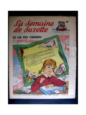 La Semaine de Suzette n°5 (1er janvier 1953) LE LIS DES CHAMPS (Edith Follet)