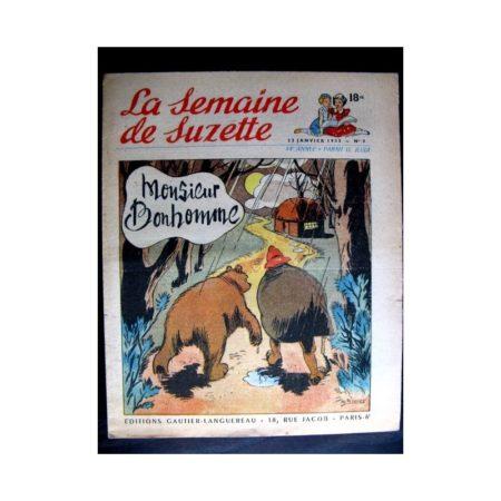 La Semaine de Suzette n°8 (22 janvier 1953) MONSIEUR BONHOMME (Calvo / F. Bertier)