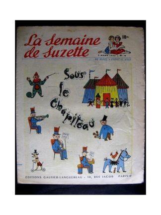 La Semaine de Suzette n°14 (5 mars 1953) SOUS LE CHAPITEAU (Calvo)