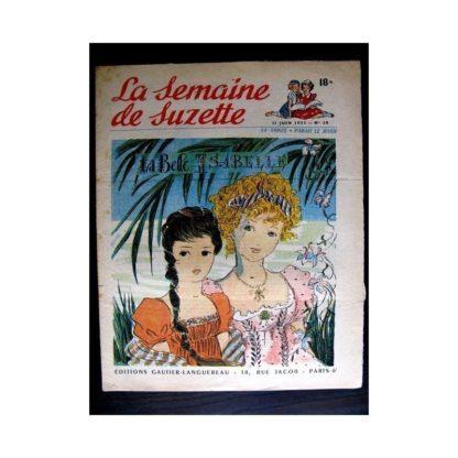 La Semaine de Suzette n°28 (11 juin 1953) LA BELLE ISABELLE