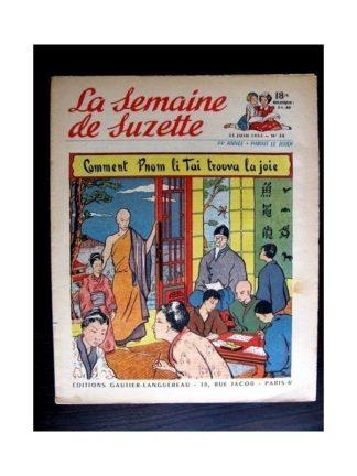 La Semaine de Suzette n°30 (25 juin 1953) PNOM LI TAI TROUVA LA JOIE (J. Desrieux)