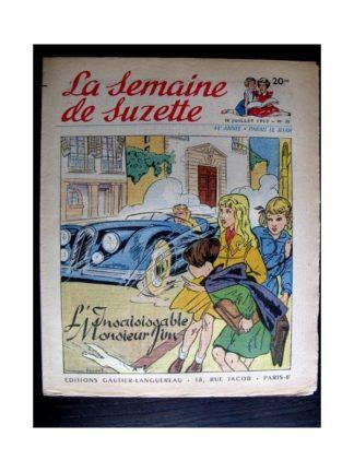 La Semaine de Suzette n°35 (30 juillet 1953) L'INSAISISSABLE MONSIEUR JIM (Manon Iessel)