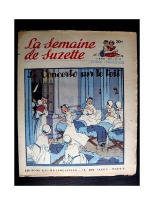 La Semaine de Suzette n°36 (6 août1953) LE CONCERTO SUR LE TOIT (Maggie Salcedo)