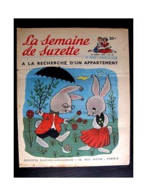 La Semaine de Suzette n°39 (27 août1953) LA RECHERCHE D'UN APPARTEMENT (Pierre Sels)