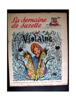 La Semaine de Suzette n°41 (10 septembre 1953) VIOLAINE (Paul de Combret)