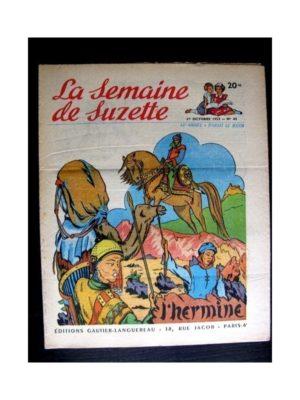 La Semaine de Suzette n°44 (1er octobre 1953) L'HERMINE