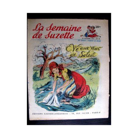 La Semaine de Suzette n°48 (29 octobre 1953) EVE AUX YEUX DE SOLEIL (Claire Marchal)