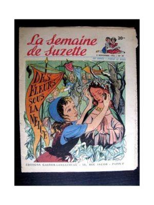 La Semaine de Suzette n°49 (5 novembre 1953) DES FLEURS SOUS LA NEIGE (Claire Marchal)