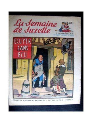 La Semaine de Suzette n°52 (26 novembre 1953) ECUYER SANS ECU (Maggie Salcedo)