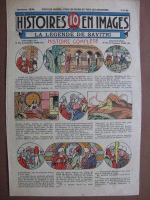 LES HISTOIRES EN IMAGES – LA LEGENDE DE SAVITRI (Inde, rajah, devin)