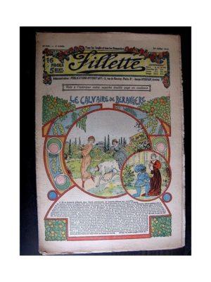FILLETTE (SPE) 1913 N°240 LE CALVAIRE DE BERANGERE (Tablier brodé)