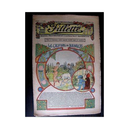 FILLETTE 1913 N°240 LE CALVAIRE DE BERANGERE (Tablier brodé)