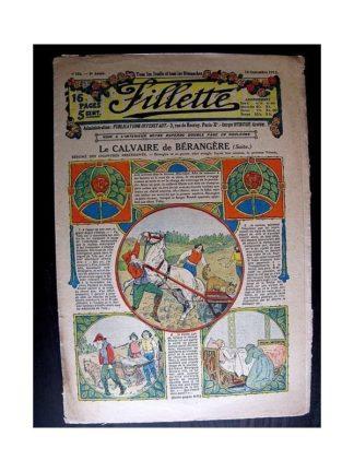 FILLETTE 1913 N°256 LE CALVAIRE DE BERANGERE (Tablier Babette)