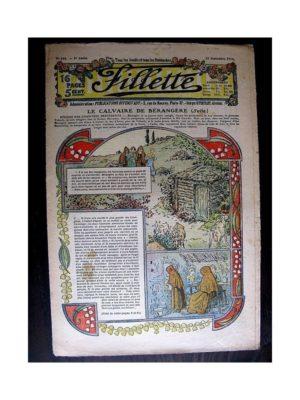 FILLETTE (SPE) 1913 N°258 LE CALVAIRE DE BERANGERE (Béret de garçon)