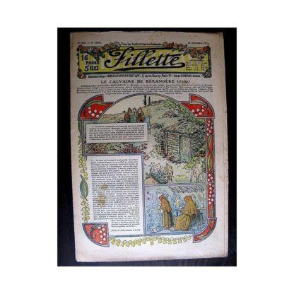 FILLETTE 1913 N°258 LE CALVAIRE DE BERANGERE (Béret de garçon)