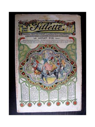 FILLETTE 1913 N°260 LE SIFFLET D'OR (Pardessus de garçon)
