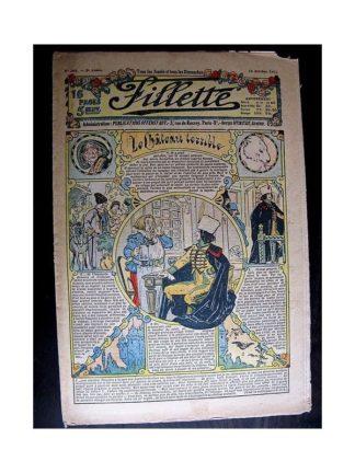 FILLETTE 1913 N°264 LE CHATEAU TERRIBLE (Poupée Fillette - Robe de visite)